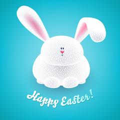 Cute easter bunny. Cheerful rabbit.