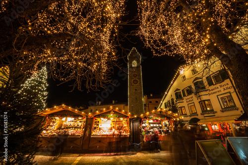 Poster Mercatino di Natale, Vipiteno, Trentino Alto Adige, Italia