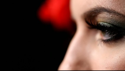 Close up of girl with make up