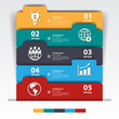 Design multicolour number banners template/graphic or website.ve