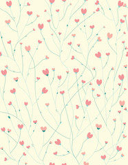 Vector seamless  pattern for Valentine's day design.