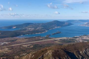 View of Lustica peninsula and Boka  Kotorska. Montenegro
