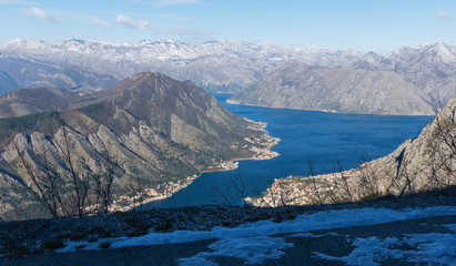 On the brink of the precipice.  Gulf of Kotor, Montenegro