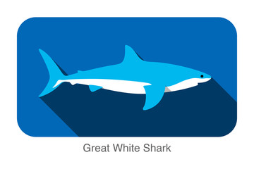 Fish swimming  flat icon design