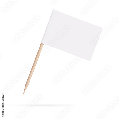 blank white flag.Isolated on white background - 76144376