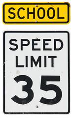Signs: School Zone Speed Limit