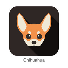 Chihuahua dog face character icon design