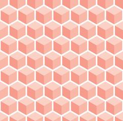 An orange seamless cube style pattern illustration
