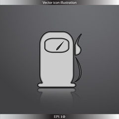 Vector fuel station web flat icon