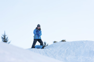 Sledging downhill