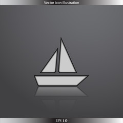 Vector ship web flat icon