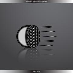 Vector Car headlight web flat icon