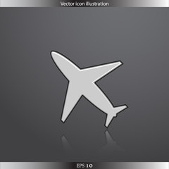 Vector air plane web flat icon