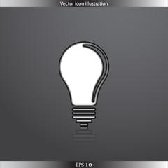 Vector Light bulb web flat icon