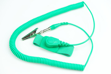 Green antistatic wrist strap