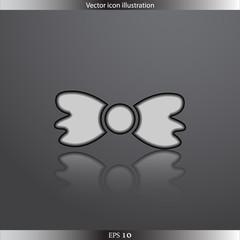Vector bow tie web flat icon