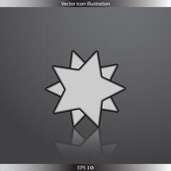 Vector star web flat icon