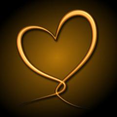 Heartloop gold / gold