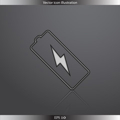 Vector battery web flat icon