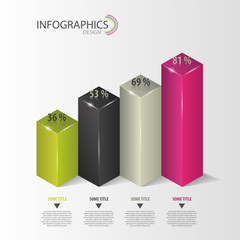 Infographics. Diagram, number options. Vector
