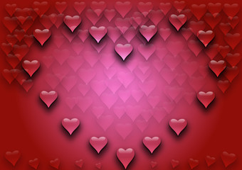 Heart  background illustration