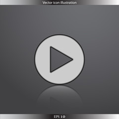 Vector play web flat icon
