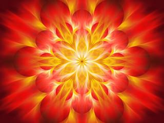 Fiery chakra flame