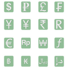 Currency symbol Icons