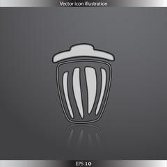 Vector trash can web icon