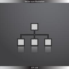 Vector network web icon