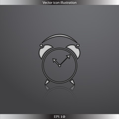 Vector clock web flat icon
