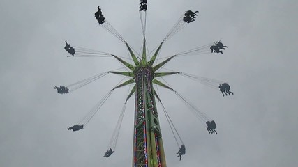 Ride at fun fair and fairground