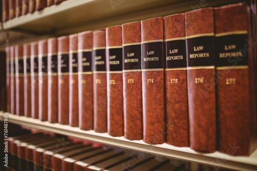 Close up of a lot of law reports - 76148786