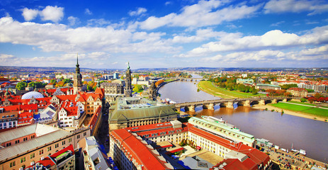 panoramic view of Dresden,old city