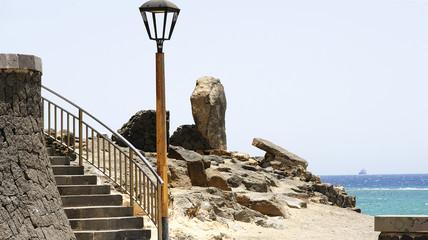 Escalera al castillo de San Gabriel, Lanzarote, Islas Canarias