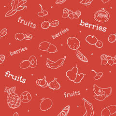 fruit and berry seamless pattern