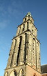 Martini tower from 1482 against a blue sky in Groningen