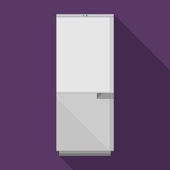 Flat vector icon for gray refrigerator