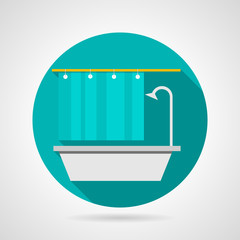 Flat vector icon for bathroom