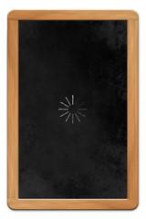 Blackboard with Loading Symbol