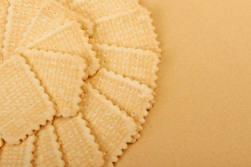 Wafer biscuits on the canvas background.