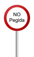 Verbotsschild Pegida