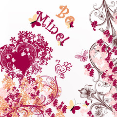 Cute Valentine or wedding card be mine