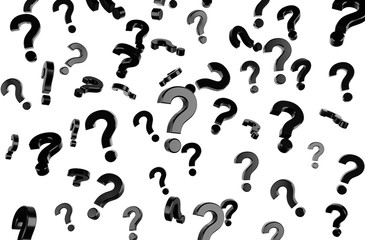 flying question marks