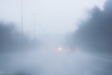 highway with fog