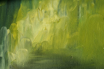 abstract green background on canvas