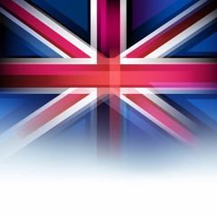 United Kingdom flag in blur style, faded white.
