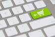 Leinwanddruck Bild - E-Commerce mit Computer