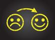 sad face to a happy face - 76151374
