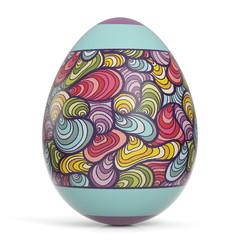 Buntes Osterei zu Ostern
